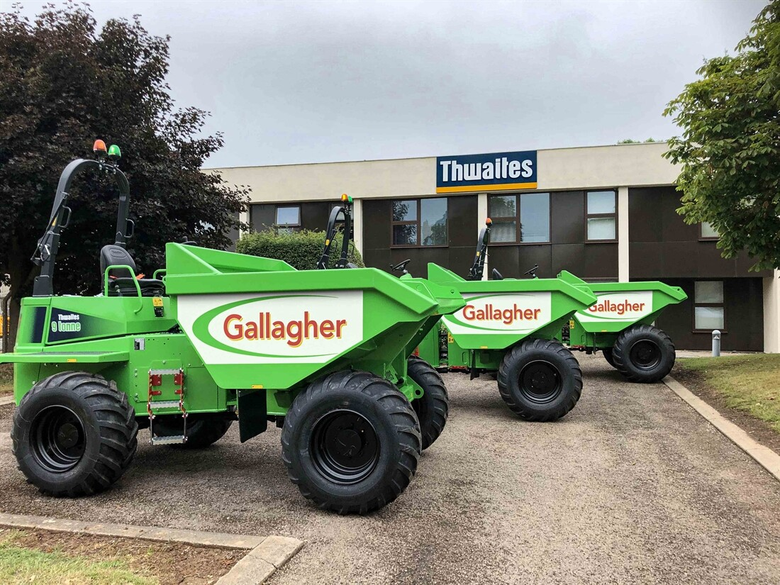 Thwaites dumpers for Gallagher Group