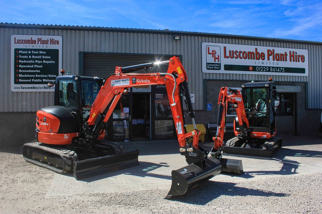 Luscombe Plant Hire increases Kubota range