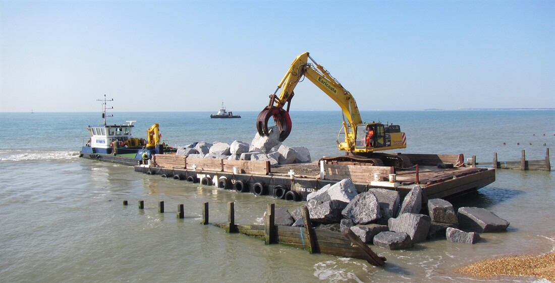 Rocking the Sea Defence Work