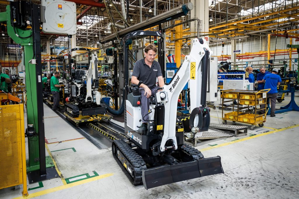 Bobcat's First Electric Excavator Powers Off the Production Line