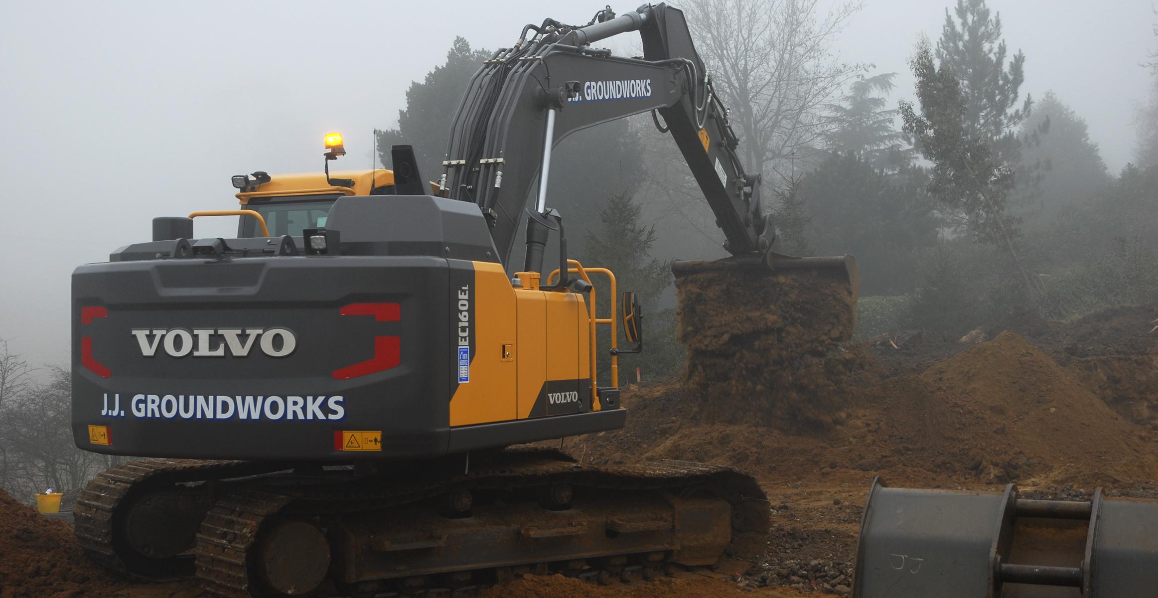 JJ Groundworks adds more Volvo excavators to the fleet
